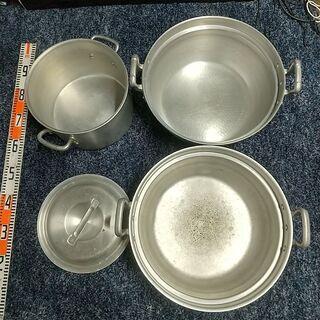 寸胴鍋 セット 3個セット 業務用 両手鍋