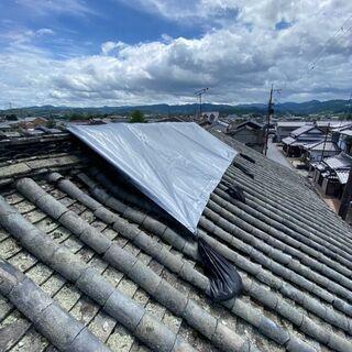雨漏り・屋根の雨漏りをブルーシートで応急処置・雨漏りは早めの修理...