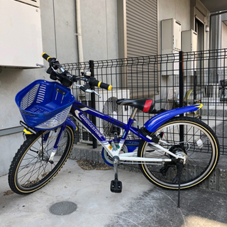 【ネット決済】22インチ 自転車 ブリヂストン キッズバイク ク...