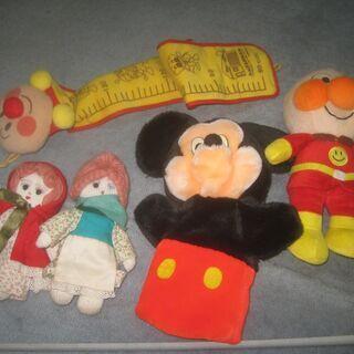 ぬいぐるみ アンパンマン ミッキーマウス 軍手の手作り人形