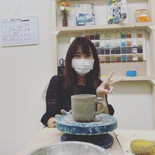 渋谷で陶芸体験 作品2点+α