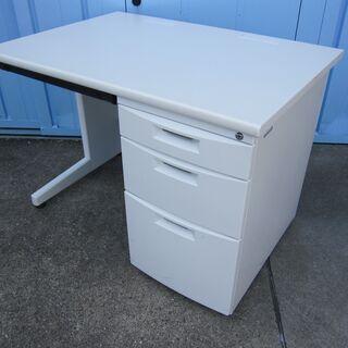 事務机 ホワイト W1000 イトーキ製CZ 片袖デスク