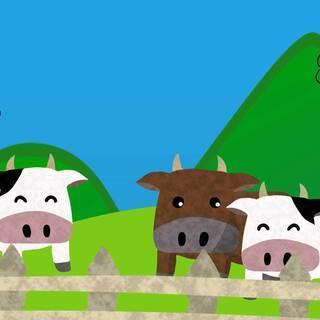 牧場でのお仕事♪牛さんの乳しぼりやごはんをあげるお仕事です(^O^)