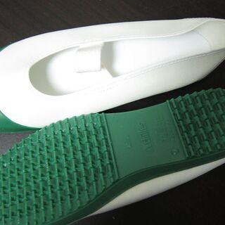 未使用☆Achilles アキレス カラーバレー 52 グリーン2 24.5cm 校内履き・上履き(バレエタイプ) ルームカラー - 中野区
