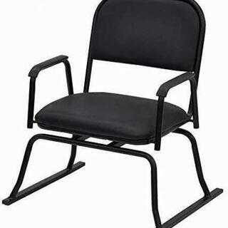 回転式 座敷椅子 ブラック 楽座椅子 肘掛けつき 1脚