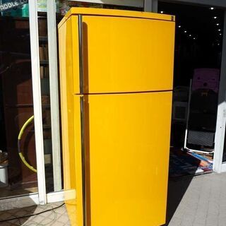 ◆GE 冷蔵庫 イエロー レトロデザイン 大型 432L【…