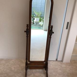 【最終値下げ】カリモク アンティーク木製鏡