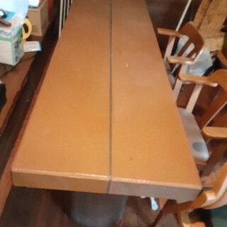 本日限り❢特大丸太脚テーブル