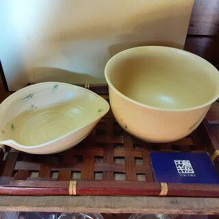 鳥居ユキ お茶碗と菓子鉢 飾り盆付き /DJ-0476-DS