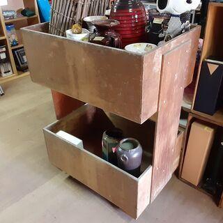 ヴィンテージ 木製 カゴ車 2段 /DJ-0477-DS