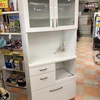 ニトリ 食器棚  コパン80KB ホワイト W 80×H 180...