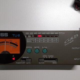 【ネット決済】チューナー BOSS G&B Tuner TU-8