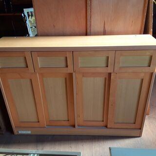 レトロ キッチンボード 食器棚 薄型収納棚 /DJ-0481-2F南2