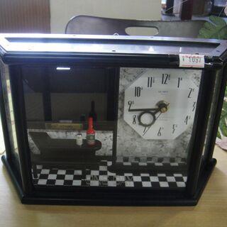フォトフレームつき置時計 写真立て クォーツ 置き時計 インテリア