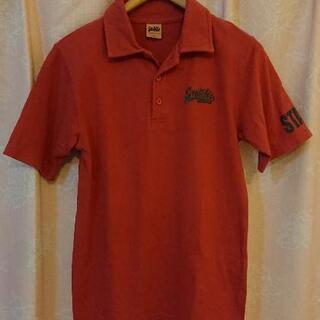 □メンズS お子さまでも。 ポロシャツ 赤系