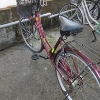 自転車 26インチ 防犯登録済 パナソニックLEDランプ付