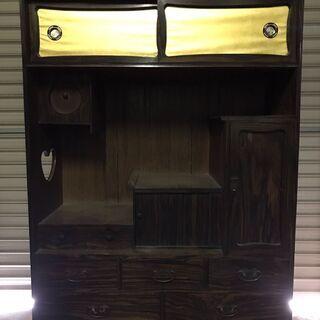 茶箪笥 昭和ロトロ 年代物 幅94cm×奥行37cm×高さ121cm