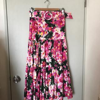 ZARA 新品 花柄ロングスカート