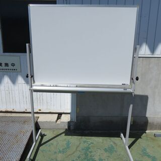 山口)下松市より ホワイトボード129×60×188両面ITOK...
