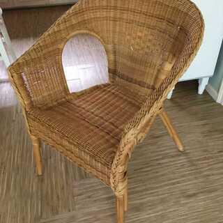 ラタンの一人掛けソファ 籐の椅子 イス カントリー インテリア