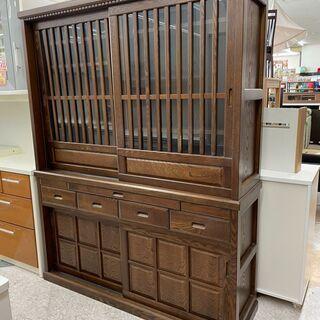 🌴民芸食器棚 タモ材使用 😊定価¥190,900😊 収納沢…