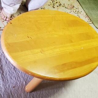 【ネット決済】楕円形ローテーブル