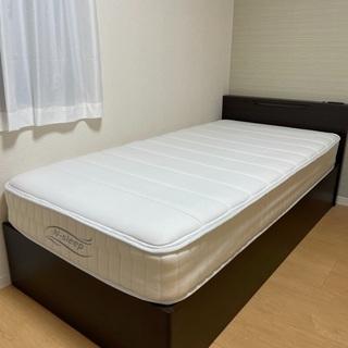 収納付きシングルベッド・マットレスセット