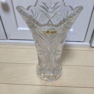 クリスタル 花瓶 24%PbO 日本製 未使用