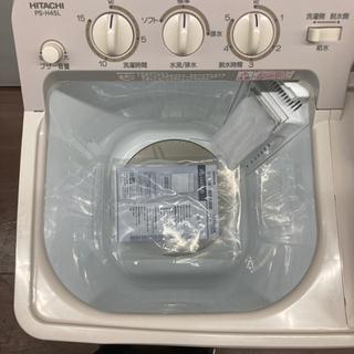 【16,900円】日立 2槽式洗濯機 青空 4.5kg PS-H45L 2019年製 HITACHI パインベージュ - 名古屋市