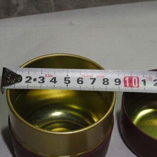 可愛い絵柄の茶筒  HANAE MORI 直径約9㎝ - 売ります・あげます