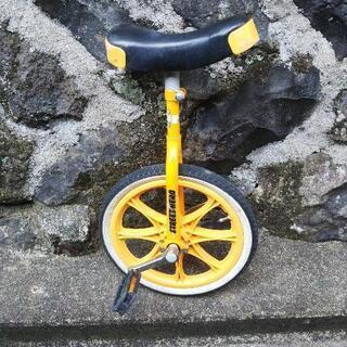 【ネット決済】一輪車 黄色 16インチ