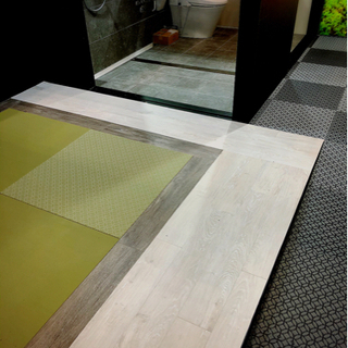 オフィスビルなどでの床の内装工事