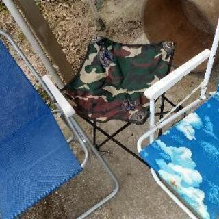 アウトドア用椅子 3脚セット