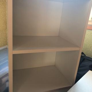 3段ボックス 白 茶色