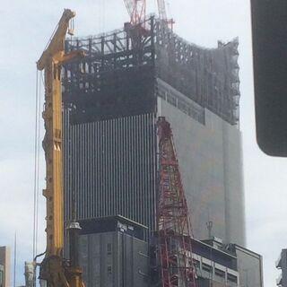 ビル建設現場夜間作業日給15,000~ - 建築