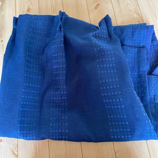 カーテン2枚 紺色