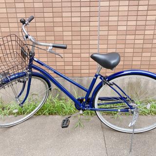新品自転車 27インチ カゴ ライト付き
