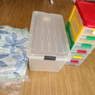 収納ケース・6段カラーBOX・掛け布団(カバー付き)3点セット