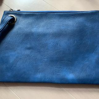 クラッチバック 青 ブルー
