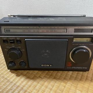 古いラジオ SONY ICF-6500 アンティーク レトロ 昭和