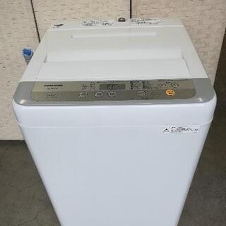 【23区送料・設置無料】⭐パナソニック洗濯機5kg+アクア冷蔵庫126L⭐急ぎも対応可能⭐JWG56 - 豊島区