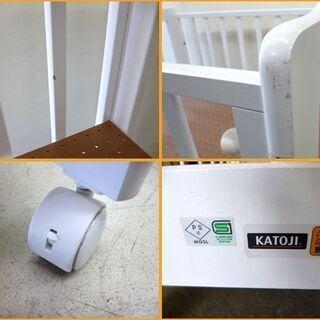 【自社配送は札幌市内限定】KATOJI/カトージ ミニタチベッド 品番:02394 ホワイト 幅68×奥行94.5×高さ102.6cm ベビーベッド 中古【USED】 - 売ります・あげます