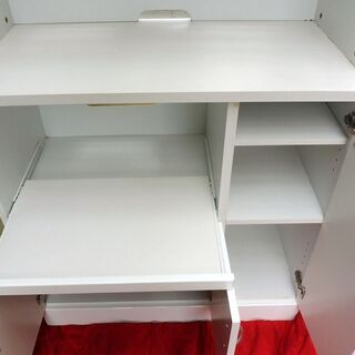 9/5成約済みとなりました。白いオシャレな食器棚 中古 - 家具
