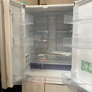 ⭐️置けるスマート大容量⭐️2017年製 MITSUBISHI 470Lフレンチドア冷蔵庫 MR-WX47A-W1 三菱 日本製 - 福岡市