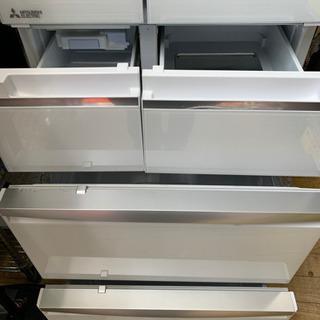 ⭐️置けるスマート大容量⭐️2017年製 MITSUBISHI 470Lフレンチドア冷蔵庫 MR-WX47A-W1 三菱 日本製 - 家電
