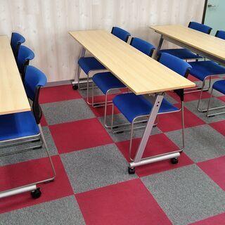 【ネット決済】会議テーブルセット(折りたたみ式・キャスター付き)...