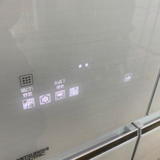 ⭐️置けるスマート大容量⭐️2017年製 MITSUBISHI 470Lフレンチドア冷蔵庫 MR-WX47A-W1 三菱 日本製 − 福岡県