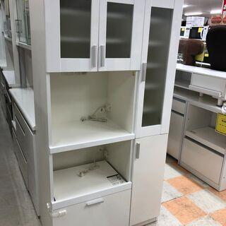 食器棚 ホワイト 共和産業  W90cm×H181cm×D45c...