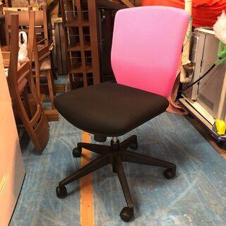 ☆2014年製造 プラス オフィスチェア ピンク/ブラック…