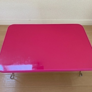 【ネット決済】鏡面ミニテーブル ピンク